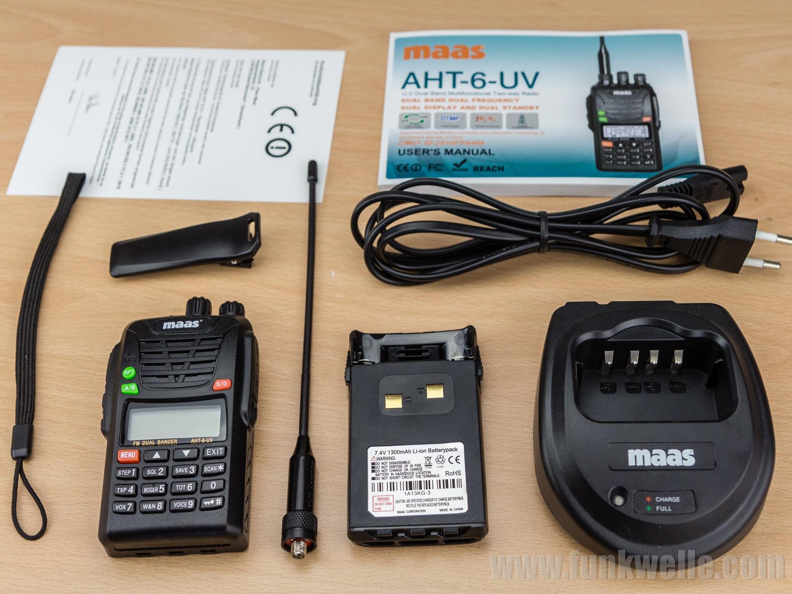Maas AHT-6-UV / Wouxun KG-UV6D Lieferumfang