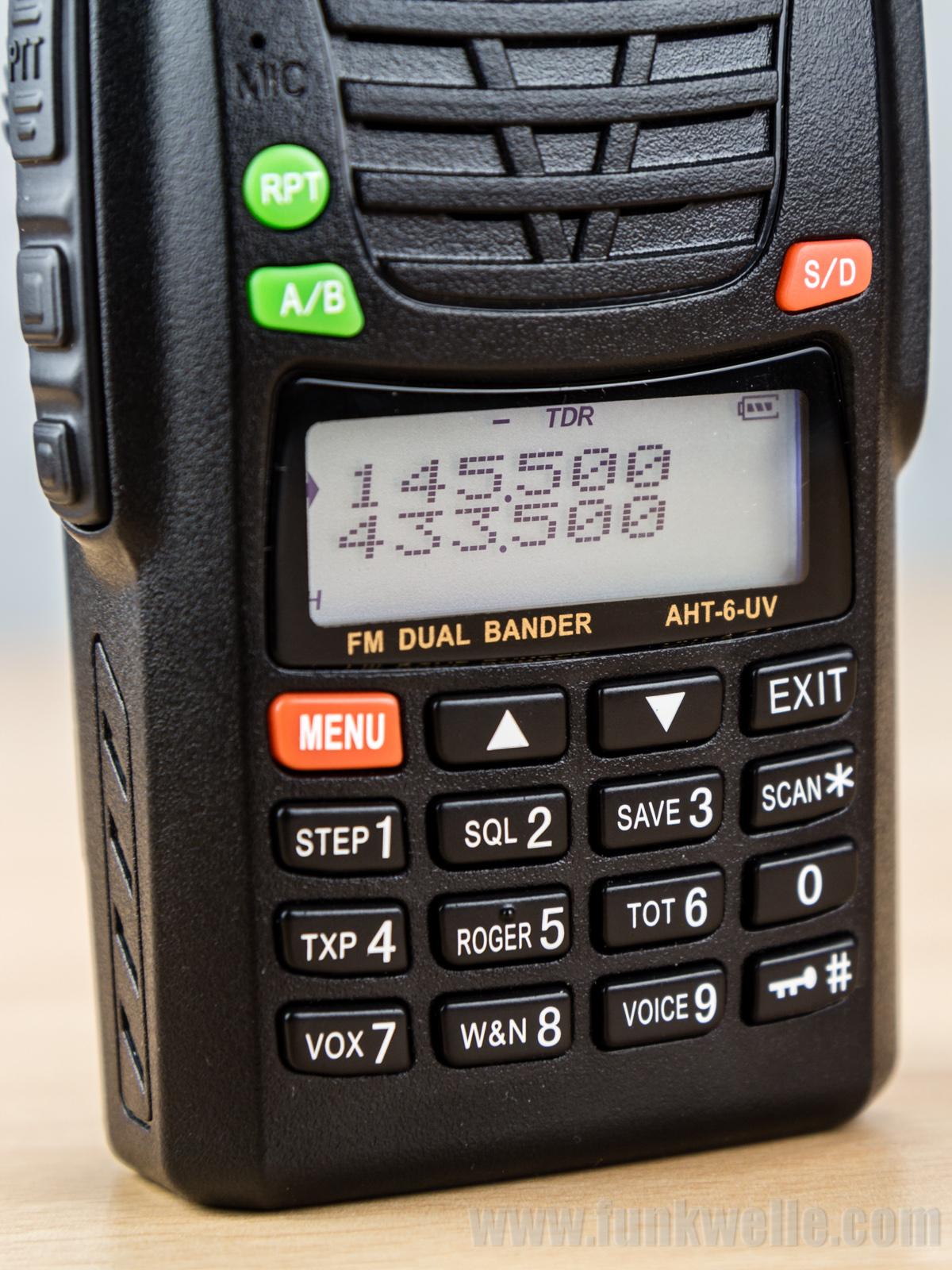 Maas AHT-6-UV / Wouxun KG-UV6D Bedienfeld